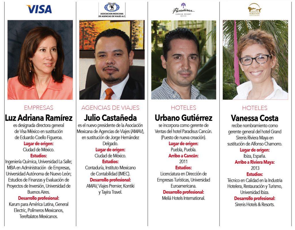 Luz Adriana Ramírez, Julio Castañeda,  Urbano Gutiérrez, Vanessa Costa