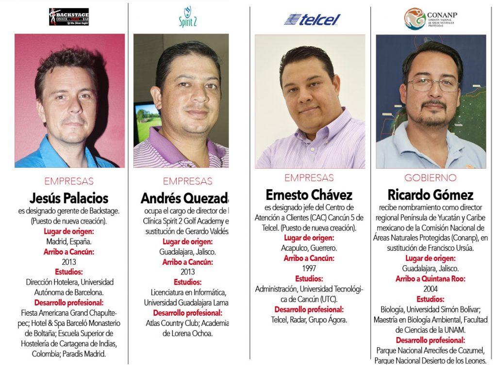Jesús Palacios,  Andrés Quezada, Ernesto Chávez, Ricardo Gómez