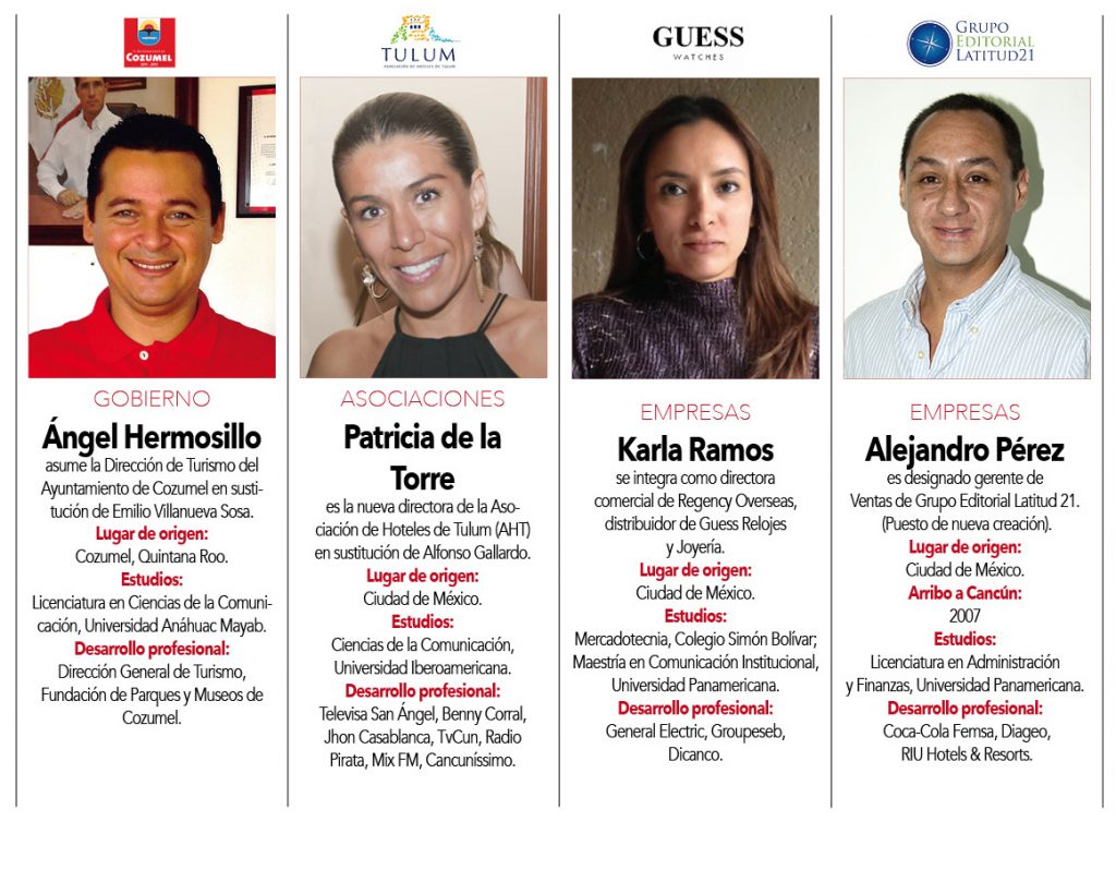 Ángel Hermosillo,  Patricia de la Torre,  Karla Ramos,  Alejandro Pérez