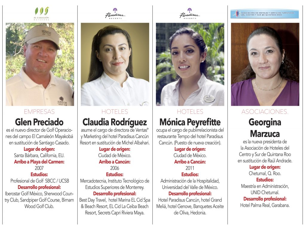 """Glen Preciado"" ""Claudia Rodríguez"" ""Mónica Peyrefitte"" ""Georgina  Marzuca"""
