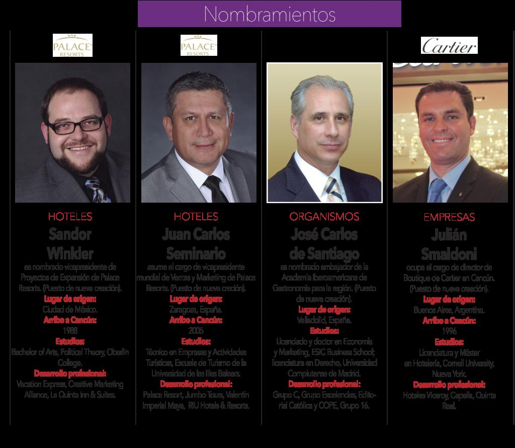 """""""Sandor Winkler"""" """"Juan Carlos Seminario"""" """"José Carlos de Santiago"""" """"Julián Smaldoni"""""""