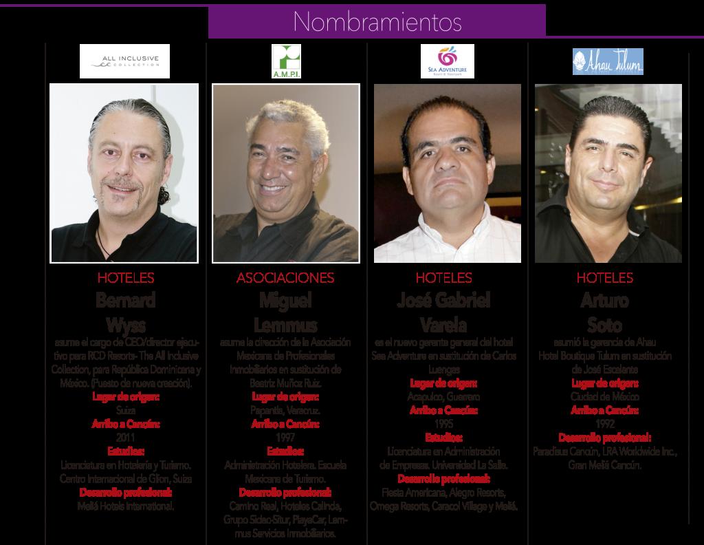 """""""Bernard Wyss"""" """"Miguel Lemmus"""" """"José Gabriel Varela"""" """"Arturo Soto"""""""