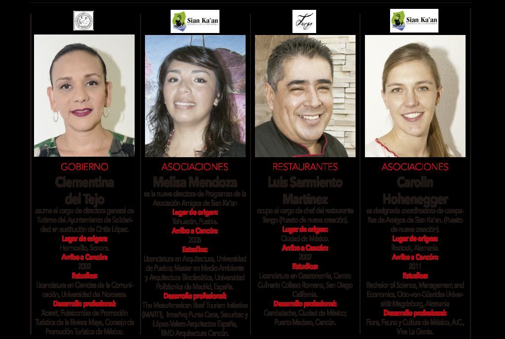 Clementina del Tejo, Melisa Mendoza, Luis Sarmiento Martinez, Carolin Hohenegger