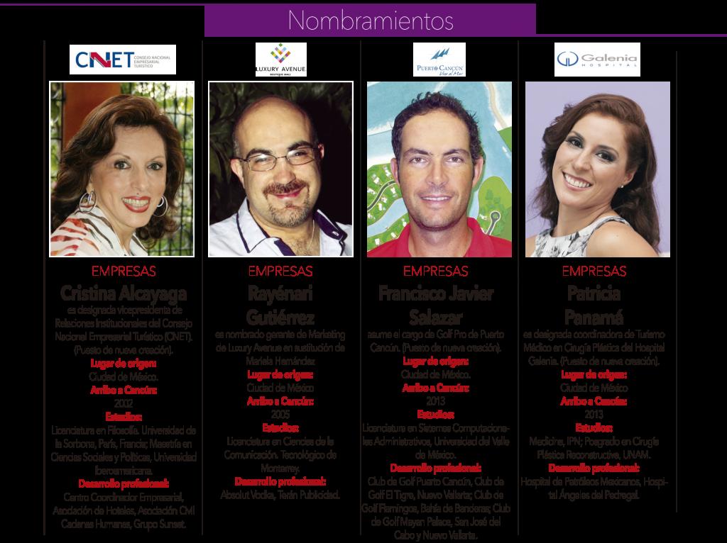 Cristina Alcayaga, Rayenari Gutierrez, Francisco Javier Salazar, Patricia Panama