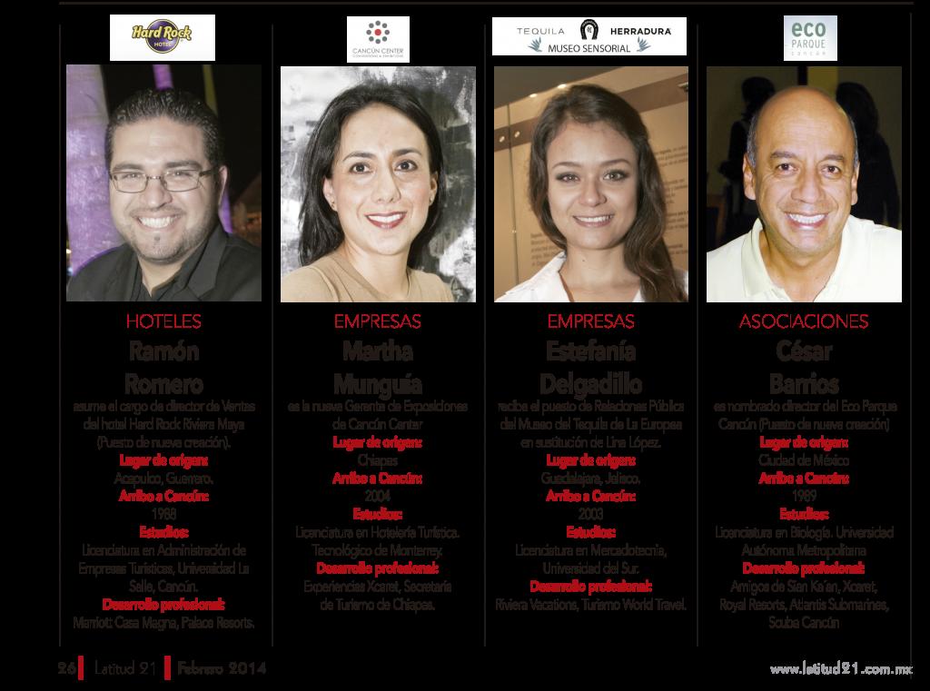 """""""Ramón Romero"""" """"Martha Munguía"""" """"Estefanía Delgadillo"""" """"César Barrios"""""""