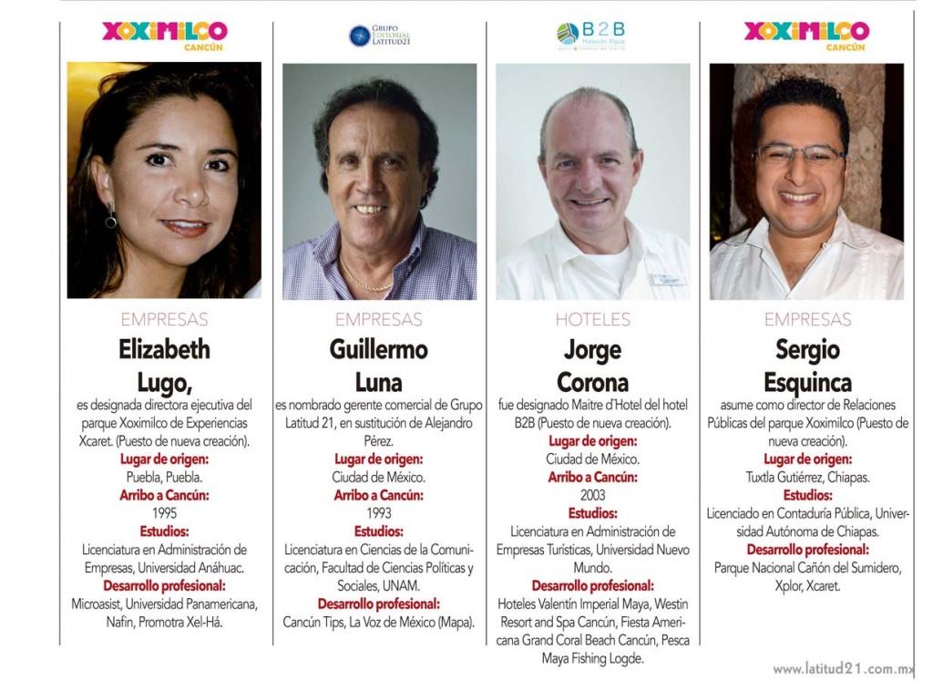 Elizabeth Lugo, Guillermo Luna , Jorge Corona , Sergio Esquinca